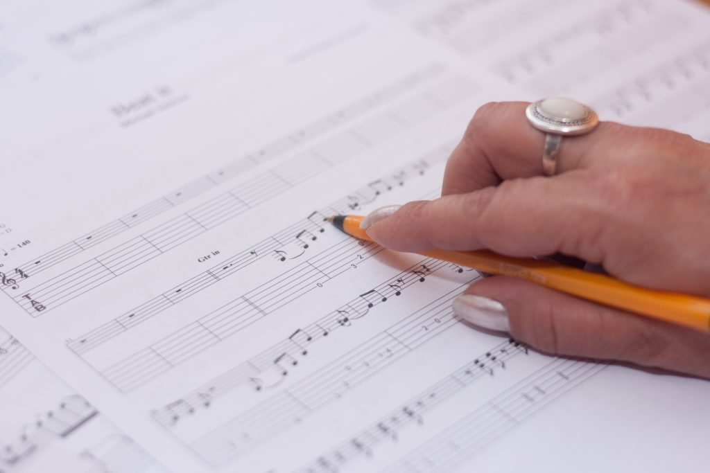 self care sheet music with hand