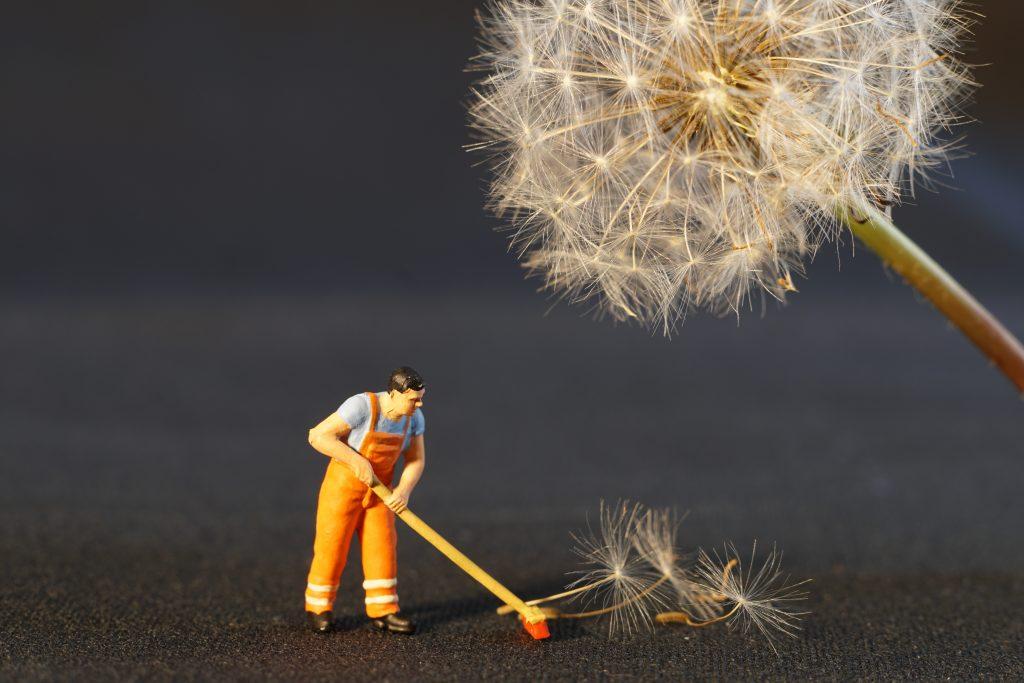 discipline effort sweeping man